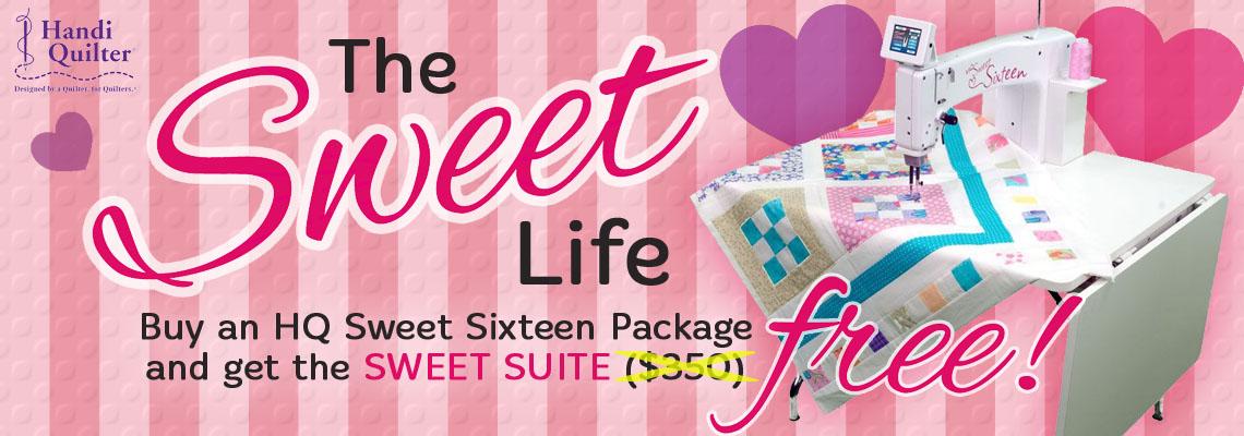 Sweet Sixteen Handi Quilter Sweet Suite Offer