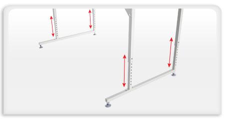 Q Zone Hoop Frame Height Adjustable Legs