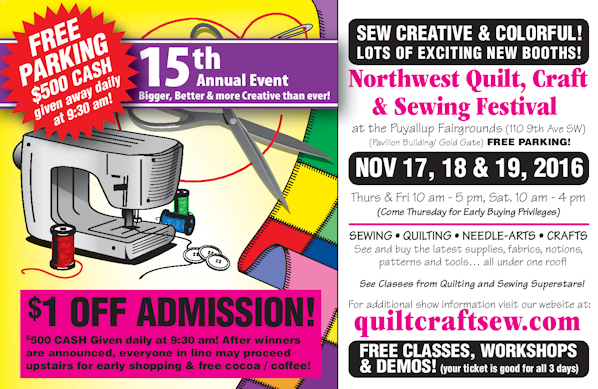 Northwest Quilt Craft Sewing Festival 2016 - Quality Sewing & Vacuum : puyallup quilt show - Adamdwight.com
